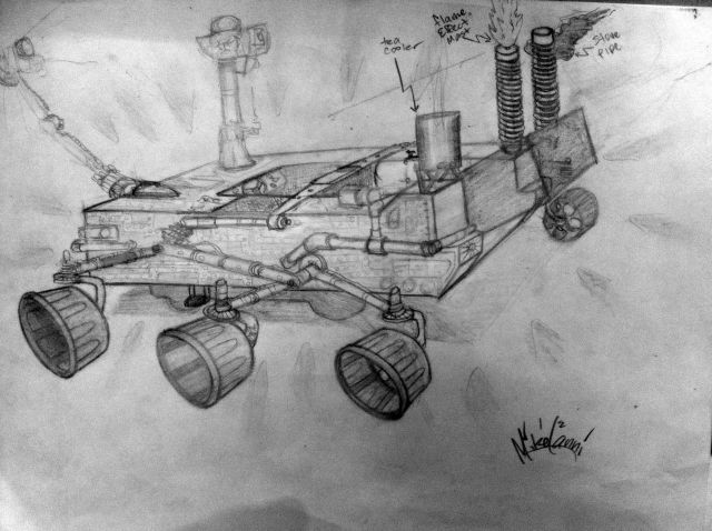 Mars Rover Art Car Concept Sketch